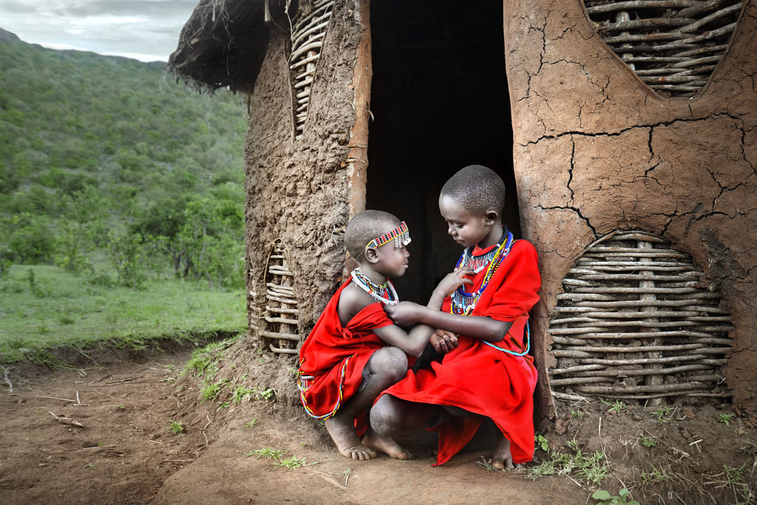 Two Masai Friends
