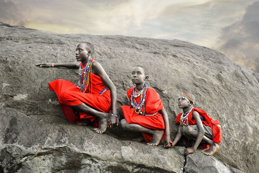Masai Boys Climbing