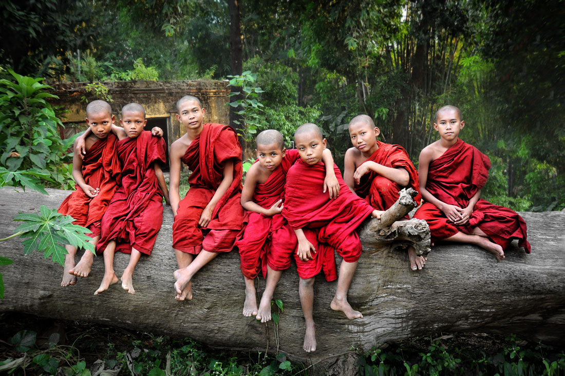 Seven Monks on a Log