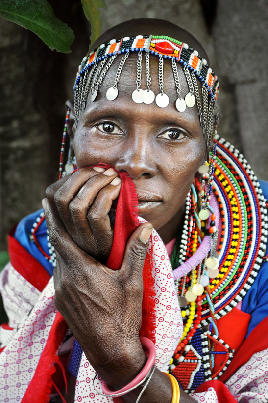 Masai Lady Portrait