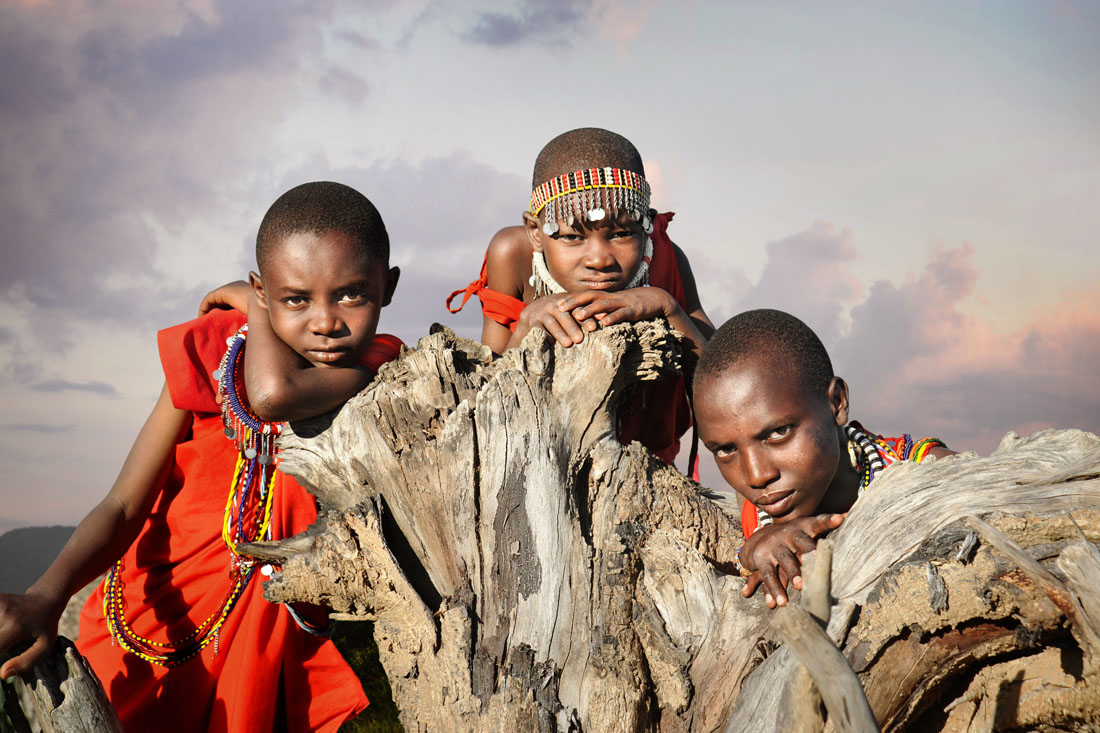 Three Masai Boys