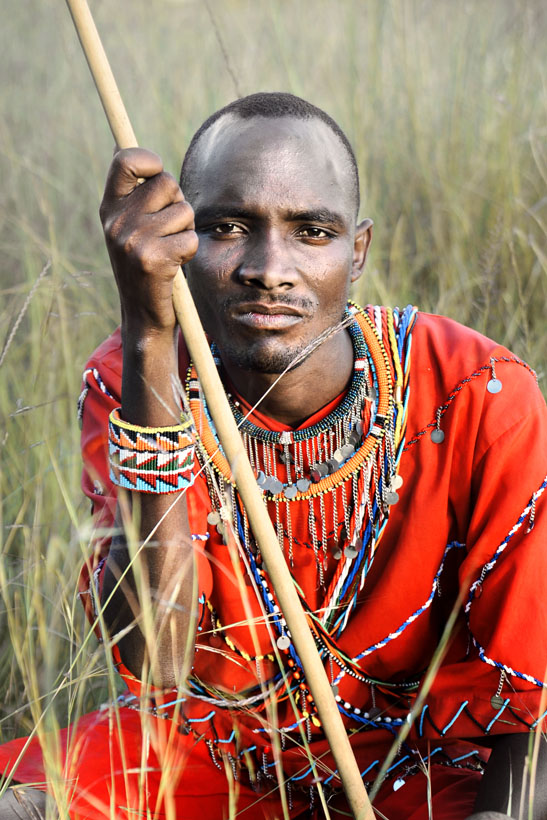 Masai Portrait in the Grass