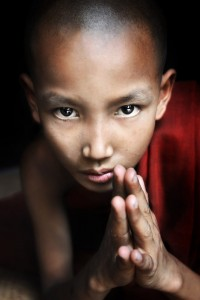 Novice Monk Praying