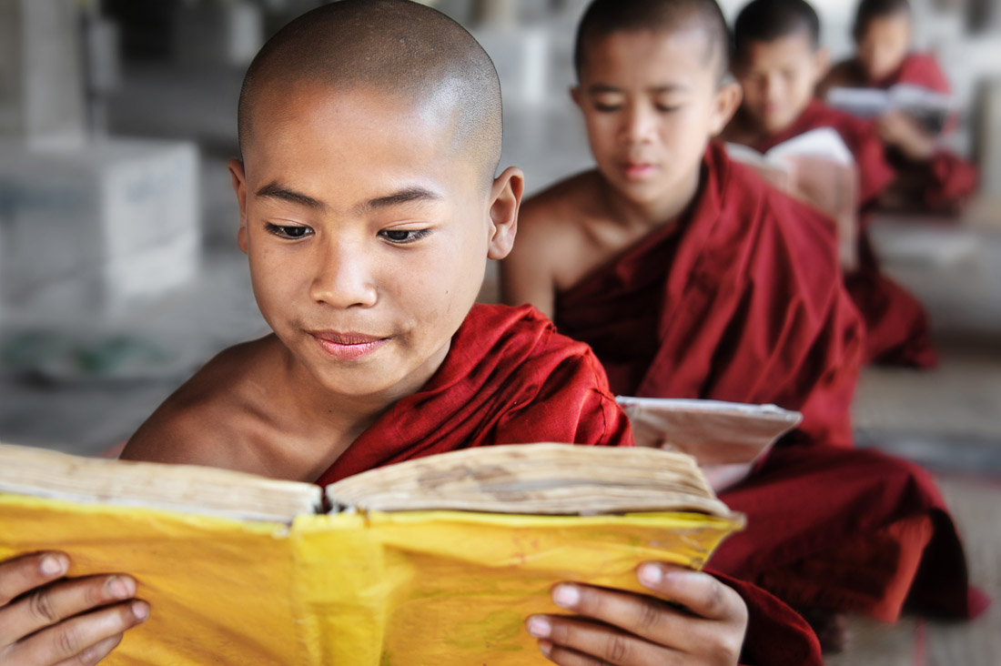 Novice Monks Reading