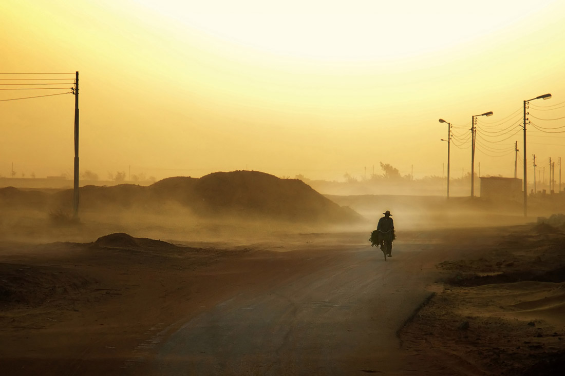 Cyclist in a Sandstorm