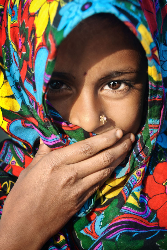 Girl with Colorful Headscarf