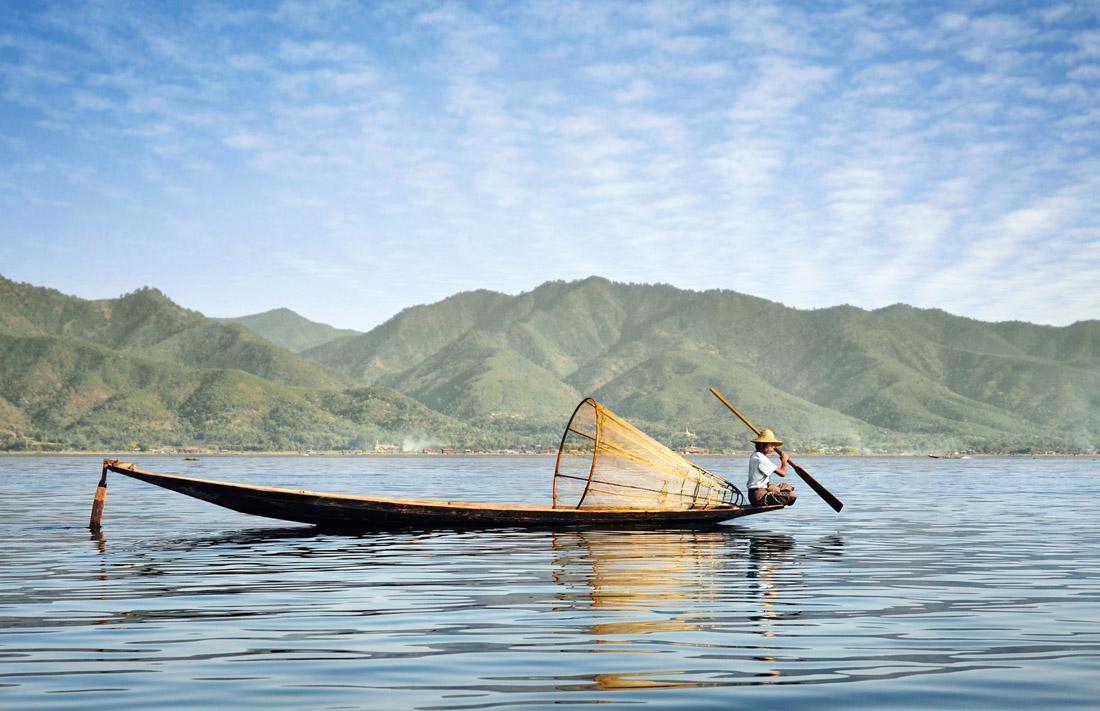 Fisherman on Inle Lake
