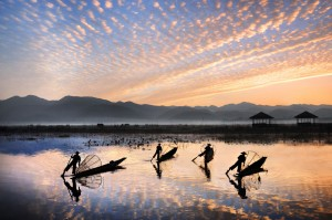 Four Fisherman at Sunrise