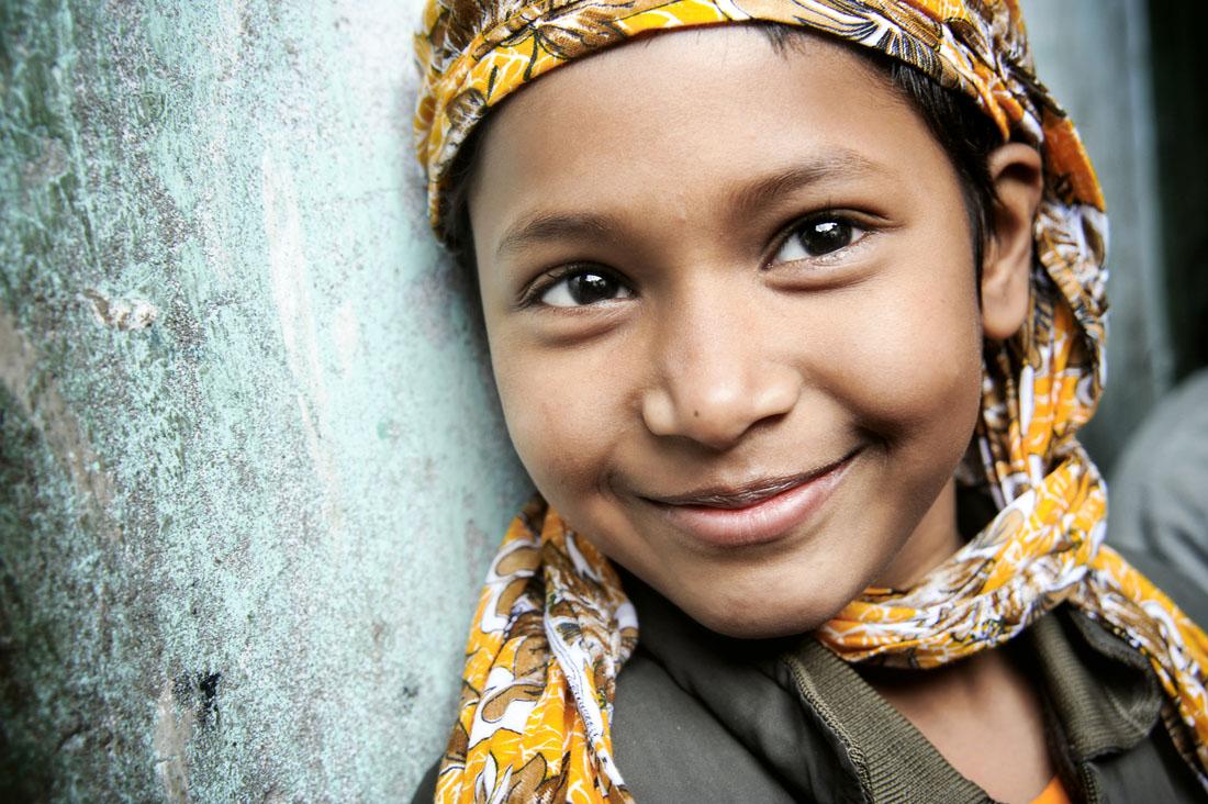 Girl in Yellow Headscarf