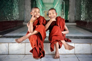 Playful Novice Monks
