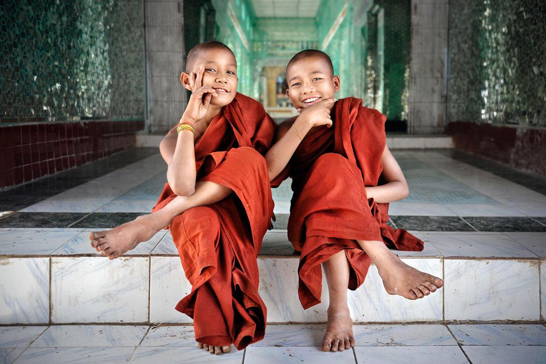 Playful Novice Monks