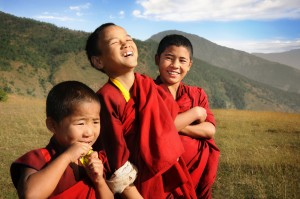 Happy Novice Monks