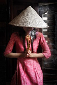 Vietnamese Lady and Incense