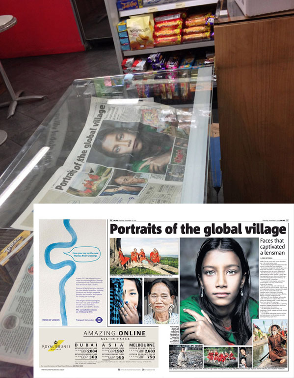 UK Metro newspaper (December 2012) - on display in a London café