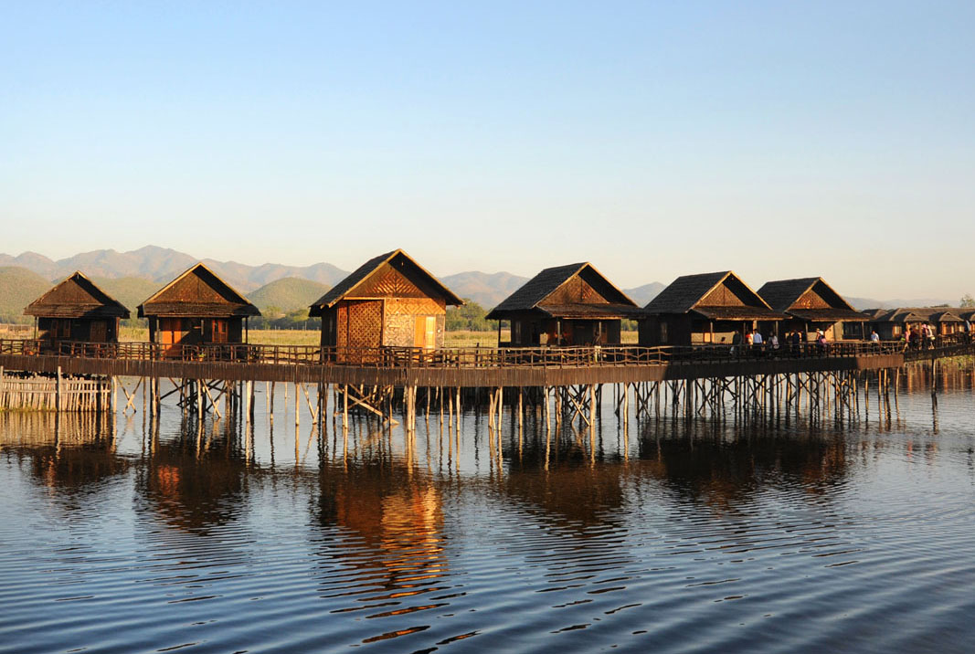 Photos Of The Hotel On Inle Lake With Wooden Bridges Connecting Rooms
