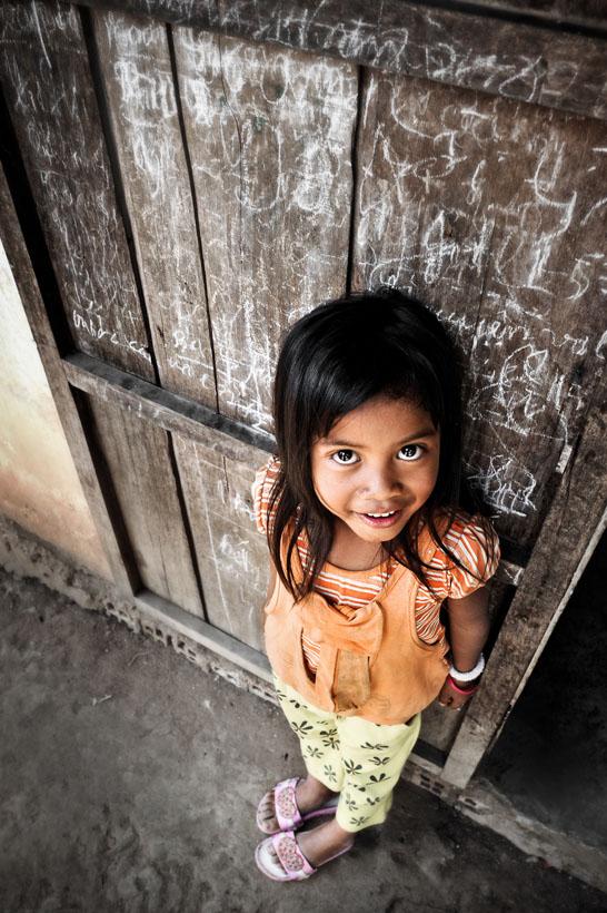 Vietnamese Girl By A Door - David Lazar