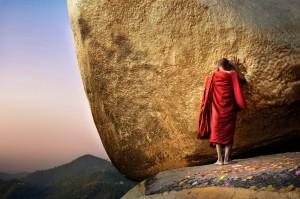 Monk at Golden Rock