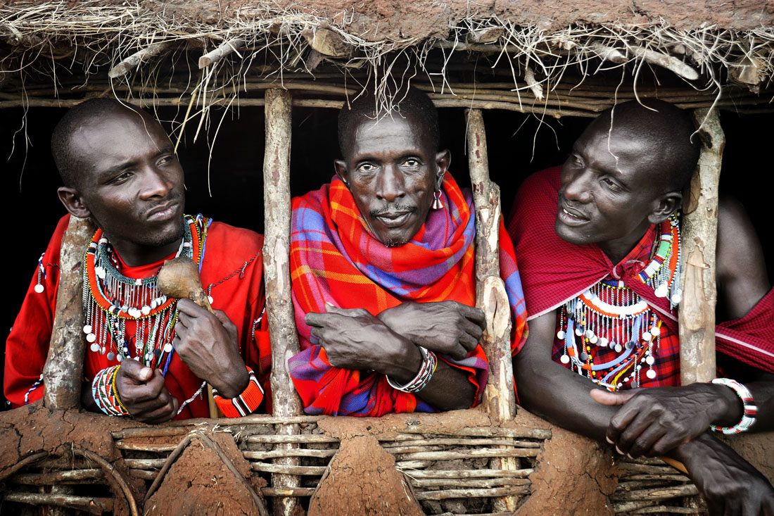 Three Masai Warriors
