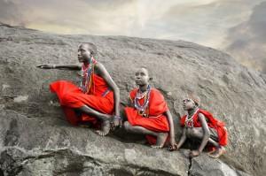 Masai Boys Climbing