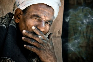 Smoking Egyptian Man