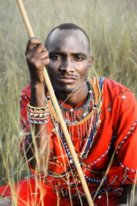 Masai Portrait in the Grass