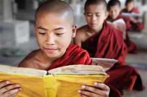 Novice Monks Reading