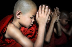 Monks Pray