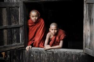 Monks Through the Window