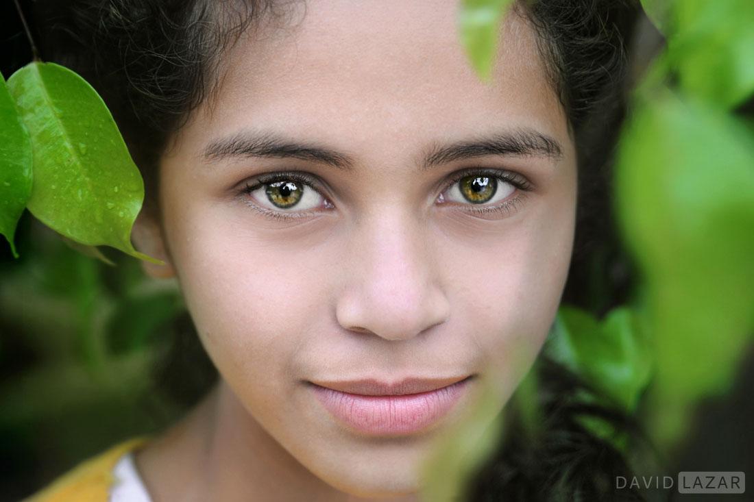 Guatemalan Girl With Green Eyes David Lazar
